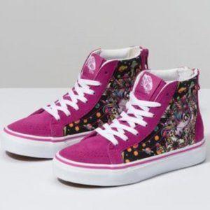 Vans Kids Sk8-Hi Zip Space Unicorn Skate Shoe NEW
